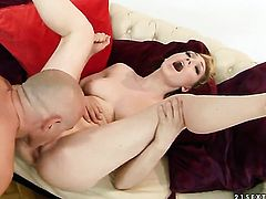 Blonde Lily LaBeau is ready to suck guys rod all day long