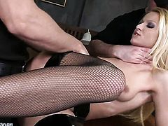 Blonde Chary Kiss just loves to suck and cant say No to her hard cocked fuck buddy