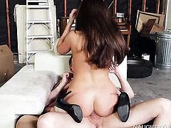 Smoking hot oriental gal Teal Conrad getting hardcored by hard dicked fuck buddy Mark Wood
