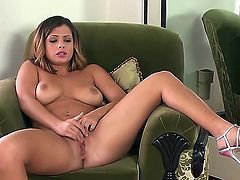 Big breasted Keisha Grey plays with herself