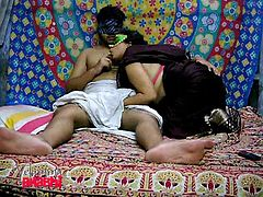 She starts off kissing his neck and then moves down to his chest, and finally his stiff cock. Watch as she gives her boyfriend a blowjob. This masked Indian chick is a chubby whore, who loves to have cock in her mouth.