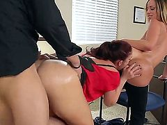 Ass worship and pound while hot FFM fuck ft. Jada Stevens, Mischa Brooks and Xander Corvus
