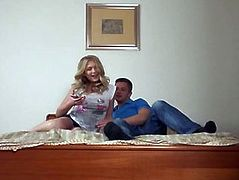 Russian blond gf Lucy Heart anal try out while being filmed