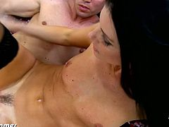 Frisky fuck for brunette MILF. She is skinny and has small tits but her desires are enormous. Small jugged MILF babe India Summer fucking a large cock for fresh cum.