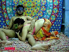 Velamma Bhabhi loves to have her man's dick. She loves to suck it and make it as rock hard, as possible. Why? Because she can barely stop herself from doing it, when her man gropes her boobs. Watch slutty Velamma Bhabhi do things that you can't imagine. She sucks for hours, just to make sure the dick is hard enough, to enter her big and sexy cunt.