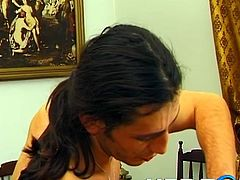 If you are into vintage porn, click to see hardcore sex scenes, where a German redhead has great fun with two horny cocks. The slutty bitch is sucking dick, while her wet pussy is fingered deep. Watch the foxy lady being fucked hard in the ass from behind. In the same time, the guy puts his hand in her cunt!