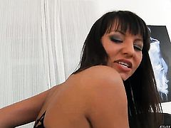 Oriental Monika B feels the best feeling ever with Omar Galantis stiff dick in mouth after anal fun