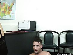 Kris Slater plays with wet wet spot of Kendall Karson before he bangs her hard