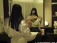 Are you fond of horny amateur ladyboys? Young Nam checks out those breasts in front of the bathroom mirror, before heading to the bedroom. The dildo is an important object not to be forgotten, when going to bed. Click to watch the slutty ladyboy, using a dildo to get aroused, and stuffing it into the asshole.
