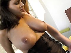 Charley Chase has some lesbian sex fantasies to be fulfilled with Andy San Dimas
