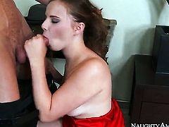Ryan Mclane makes his sturdy love wand disappear in passionate Jillian Jansons pussy