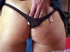 A cougar works up a sweat fucking and cuckolding her husband