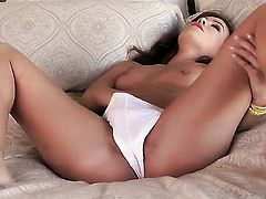 Capri Anderson is horny as hell and fucks herself with sex toy with wild enthusiasm