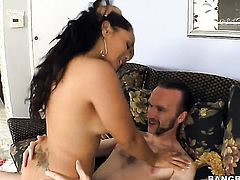 Good looking honey Jessica Bangkok with phat butt tugs on cock in steamy handjob scene