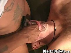 Keimo is a chubby blonde guy with no experience in porn, but this time when he took a big black cock in his holes and got filmed while doing it and enjoying it.