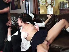 sexy bianca is fucked by masked men