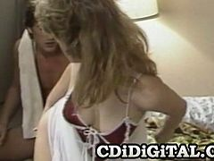 Courtesy of CDI Digital you can see how the hot retro blonde babe Tiffany Blake gives great a blowjob with her perversely skilled mouth in this awesome free porn video.