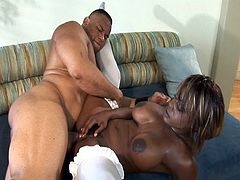 Busty white stockings ebony get hard fucked by a big  black dicks in this free sex video.