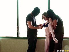 Hottie Shawna had no idea that things will get so bad for her ass. She thought she had a bad day, when she encountered two masked guys, only that to find out that things can get a lot worse. The dudes grabbed her, groped her tits hard and then, fucked her pink lips deep. Wanna see the rest of it?