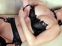 Mature Oriental chick with perky tits and slender body started teasing in the couch and she loves playing with her pussy even at her older age for her exploding orgasms.