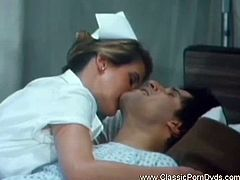 Classic porn nurses from the Golden Age of porn, the 1970's.  Who doesn't have a great nurse fantasy.See how thiese horny nurses enjoys that big hard cock on the bed.