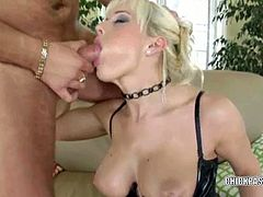She is a European swinger named Cindy Dollar and she is wearing some thigh high stockings and she is getting pounded hard by her hunk.