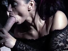 She gets her tight ass fucked hard by two horny men.