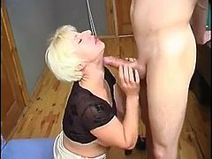 Horny mom fucked anally by a much younger guy hard