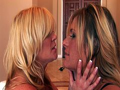 Luscious MILFs Ginger Lynn and Debi Diamond will keep you glued to the screen as they enjoy each others' naked body in this steamy scene of lesbian sex. Cum inside and watch as this nasty moms eat finger and toy each others' snatch.