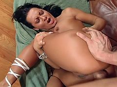 Hot interracial hardcore sex with this milf Latina with pretty face and pussy.