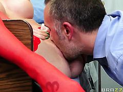 Shawna Lenee gets her love box stuffed full of cock in steamy action with Keiran Lee