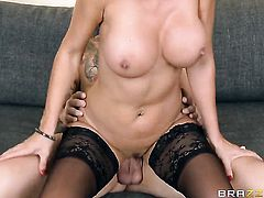 Clover has unthinkable sex with Lezley Zen with giant knockers
