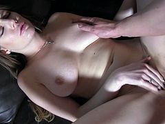 The sight of her natural titties got me so hard, that I had to fuck her fast. She sucked me so sexily. Samantha wanted to try something new, so she gaped her butthole for me. I slide my massive penis into her welcoming anus and her boobs jiggled, as I pounded her hard.