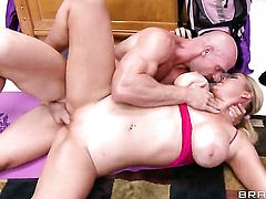 Athena Pleasures with round butt gets stuffed silly by fuck hungry Johnny Sins