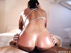 Franceska Jaimes with gigantic knockers gets her back yard poked hard by Nacho Vidals sturdy tool
