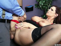 Ramon attacks breathtakingly sexy Syren De MerS back swing with his love torpedo