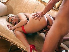 Paige Turnah with juicy butt does dirty things with hot dude Marc Rose in anal sex action