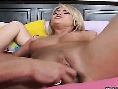 Blonde Marlie Moore has some lesbian sex fantasies to be fulfilled with Nikki