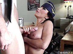 Lezley Zen enjoys Johnny Sinss beefy rock solid boner in her sweet mouth