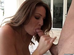 Allison Moore with phat booty plays with dudes rock hard tool