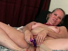 Watch these two sexy and lusty mature women in this hot video.See how Lilli and Catherine strips off there clothes and gets kinky in there pantyhose with dildos.Enjoy theses horny milfs rubbing there wet hairy cunts.