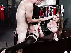 Danny D plays hide the salamy with Brooklyn Chase with big boobs