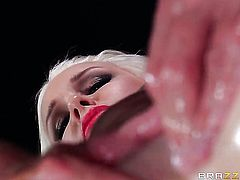 Johnny Sins gives lovely Stevie Shaes mouth a try in oral action