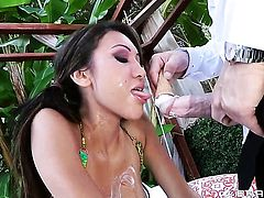 Bruce Venture attacks adorable Jayden LeeS mouth with his love torpedo