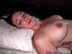 Love Creampie Big tits MILF gets her pussy filled with cum from big cock