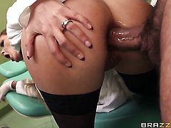 Candy Alexa and hot guy Mike Angelo have vigorous anal sex