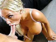 Latin Jordan Pryce with massive hooters and shaved cunt takes a dream shower in cumshot action