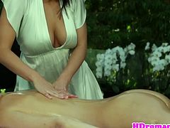 Gorgeous lesbian pussylicked during a sensual outdoor massage.See how these two lovely babe spreads each other legs and enjoys those horny cunts by licking and fingering nicely.