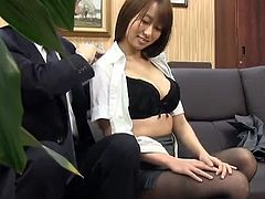 Cute Japanese chick has sex Her Colleague inside An Office