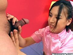 Slutty Japanese geisha gets her hairy pussy pleased with egg love sex toy